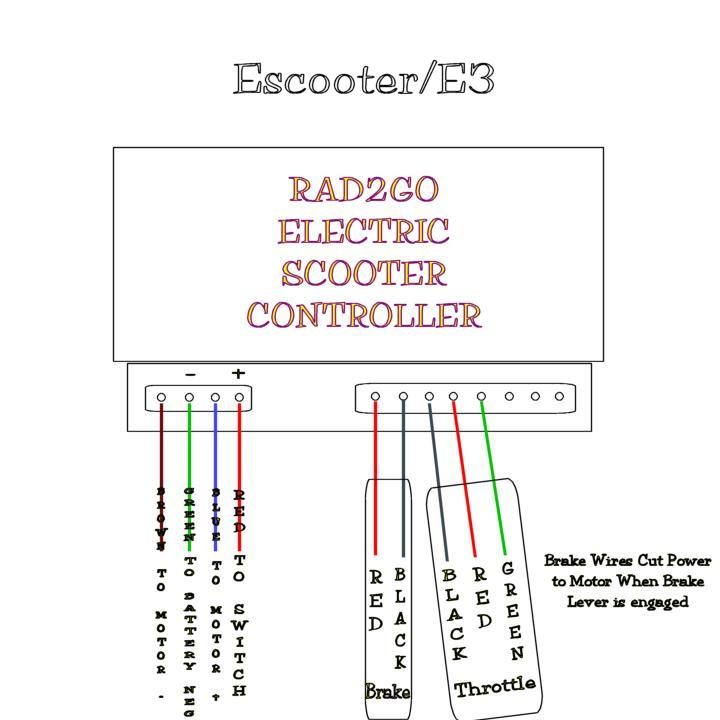 radcontroller electric scooter parts diagram scooters schwinn s350 electric scooter wiring diagram at gsmx.co